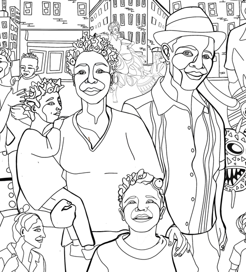 Elotera, Boricua, & Power, Coloring Pages
