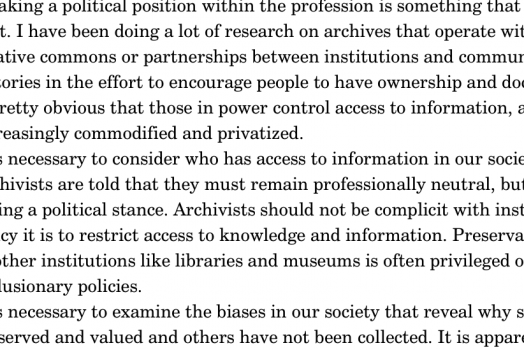 Howard Zinn's speech on the necessary rebellion of the archivist