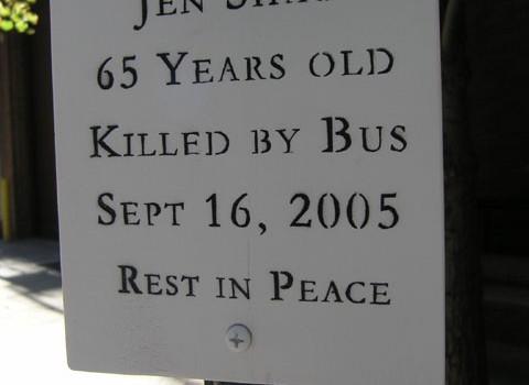 Jen Shao's ghost bike memorial removed