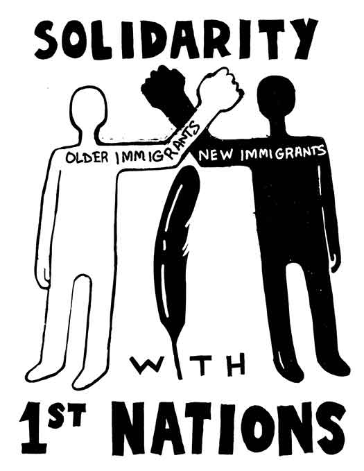 Solidarity with 1st Nations