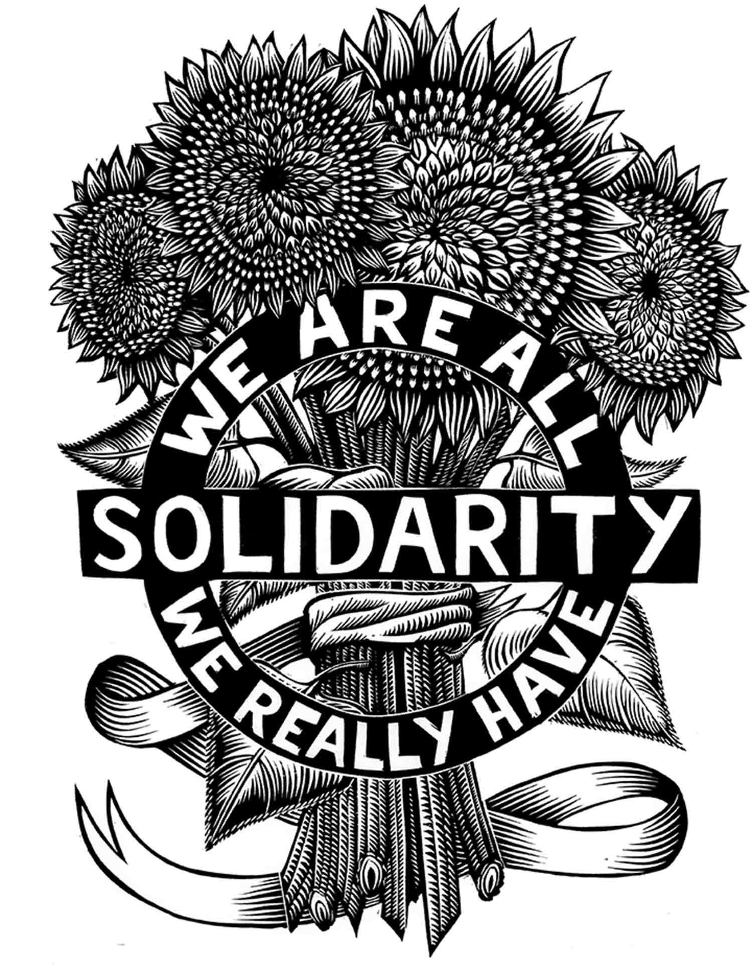 Justseeds Solidarity Sunflowers