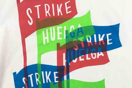 Strike! Huelga! Shirt from Kayrock