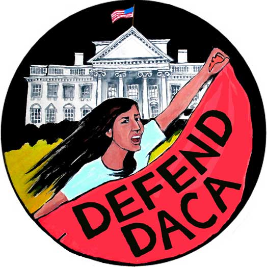 Defend DACA – White House March – circle version