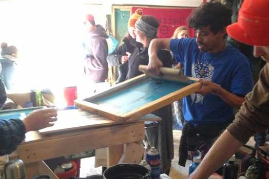 Screenprinting at the Art Tent at Standing Rock: Viktor Ortix interviewed by Nicolas Lampert