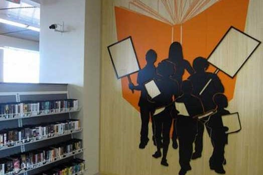 Villard Square Library Install in Milwaukee