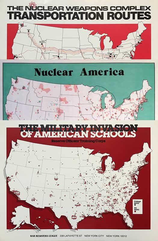 War Resisters League Map Set