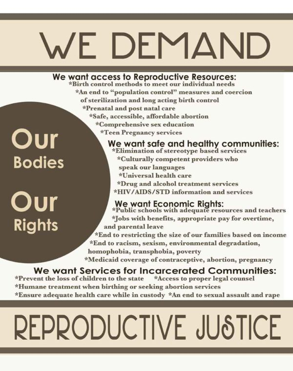 We Demand Reproductive Justice