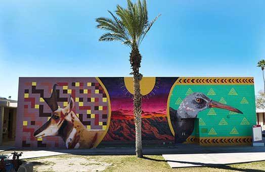 Endangered Species Mural #20: Sonoran Pronghorn and Yuma Rail