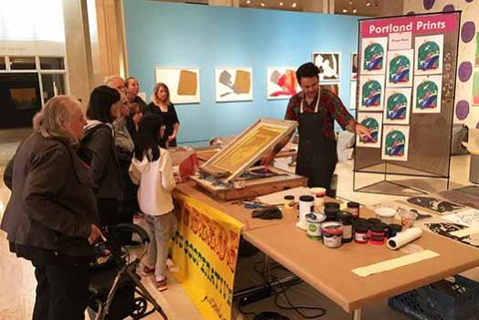 Live Printing at the Art Museum