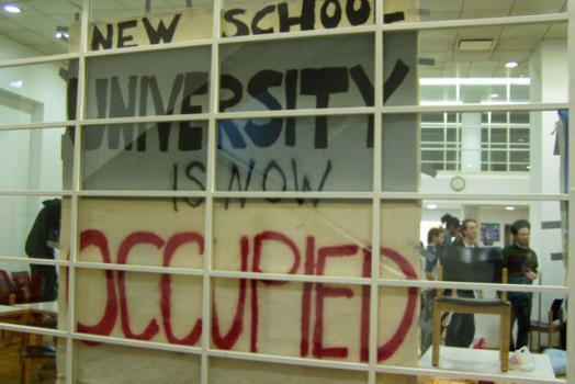 New School Occupation- Day 2
