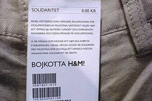 Pro-Palestine price tag switcheroo
