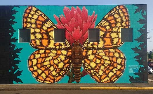 Endangered Species Murals #15: Taylor's Checkerspot Butterfly