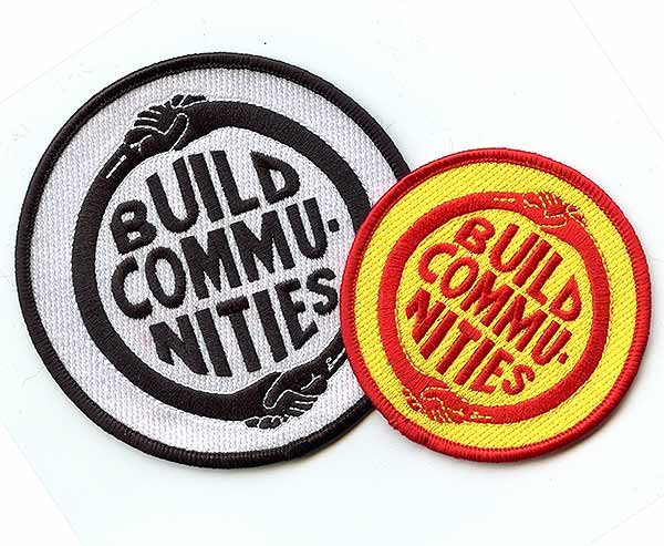Build Communities embroidered patches
