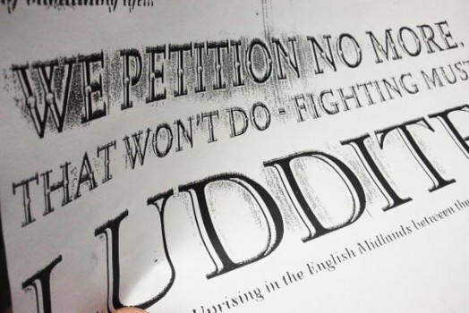 Making a Celebrate People's History Poster:  The Luddites
