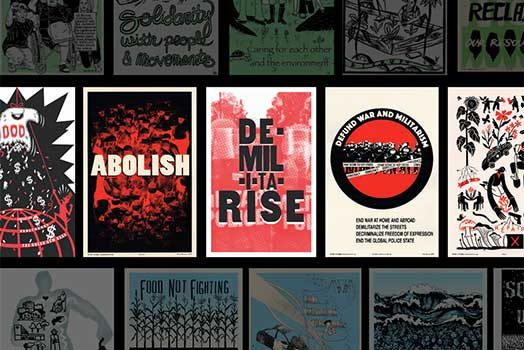 Justseeds releases new DE-MIL-I-TA-RISE Portfolio & Booklet