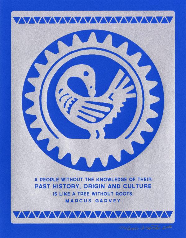 Marcus Garvey (blue paper)