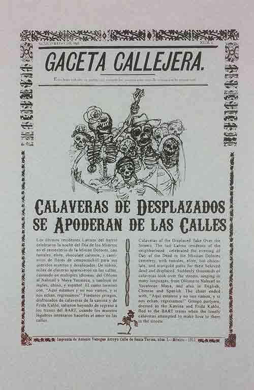 Gaceta Callejera 1: Calaveras