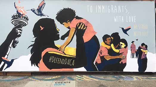"""To Immigrants, With Love"" mural"