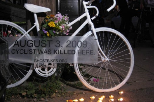 Ghost Bike Memorial in Pittsburgh