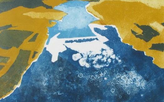 Jemila Hart: Celilo Falls Monotypes