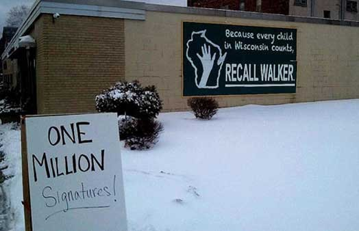 One Million Signatures!  The Recall Movement in Wisconsin Marches On