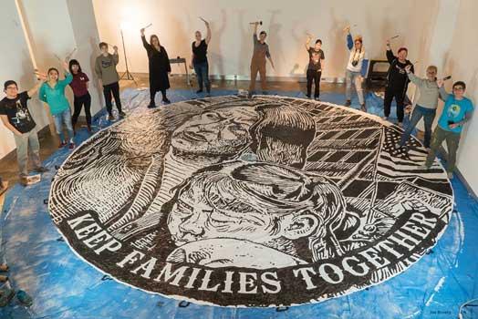 Voces de la Frontera Community Art Build in Milwaukee