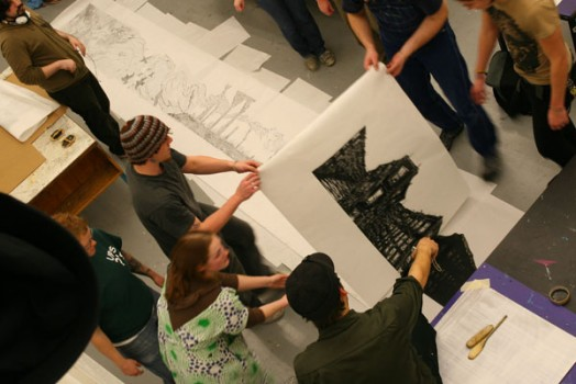 Large Scale Printmaking at Portland State University