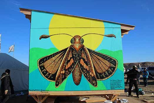Mural at Standing Rock