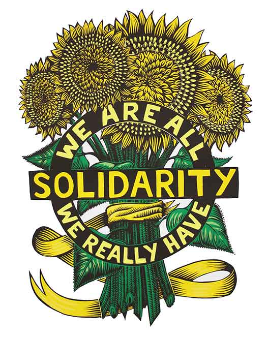 Solidarity Sunflower in Color