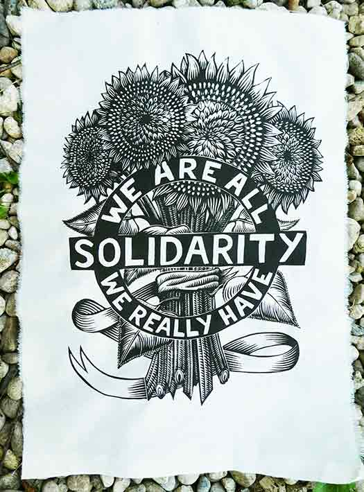 Solidarity Sunflowers patch