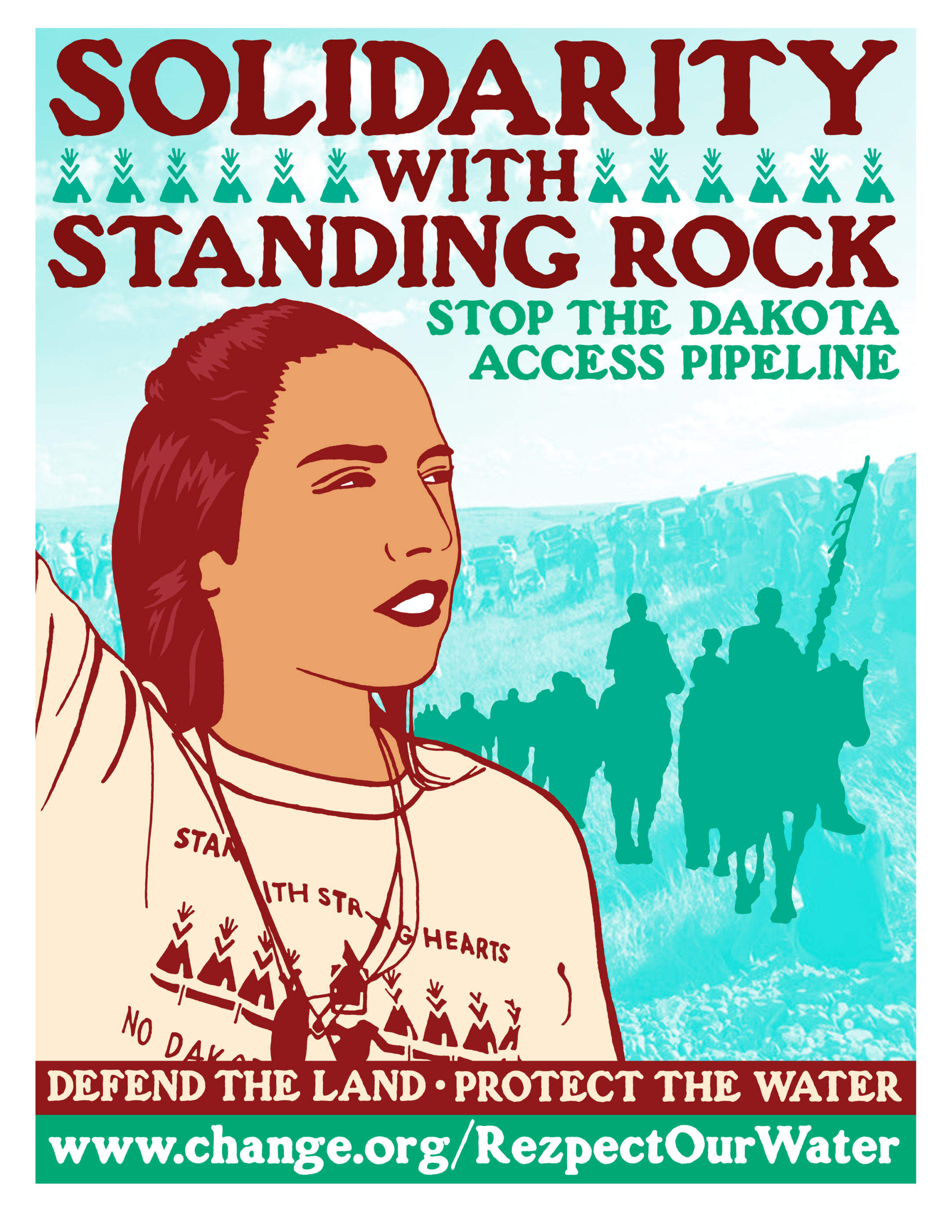 Solidarity with Standing Rock graphic by Jesus Barraza & Melanie Cervantes