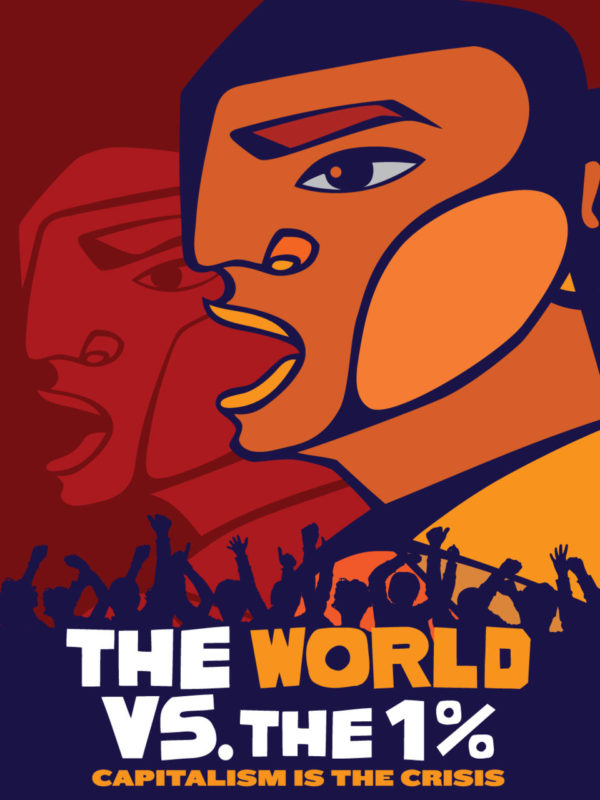 "Poster for OCCUPY ""The World Vs. the 1%"" and some Reflections"